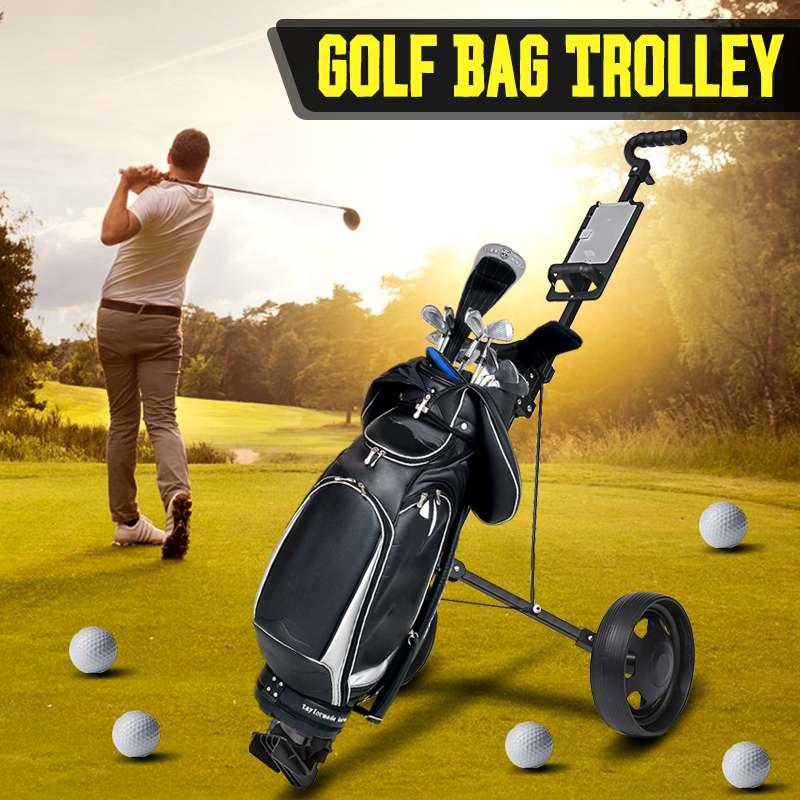 Golf Trolley Professional Folding Golf Bag Trolley Outdoor Sports Multifunctional Sport Supplies Foldable Push Pull Golf Cart