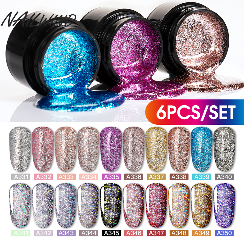 NAILWIND Gel Nail Polish Set 12PCS/Set Painting Glitter Diamond Dazzling Gel Acrylic Nail Kit Varnish All For Manicure Set