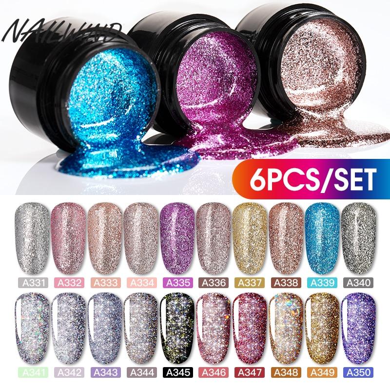 NAILWIND Gel Nail Polish Set 12PCS/Set Painting Glitter Diamond Dazzling Gel Acrylic Nail Kit Varnish All For Manicure Set