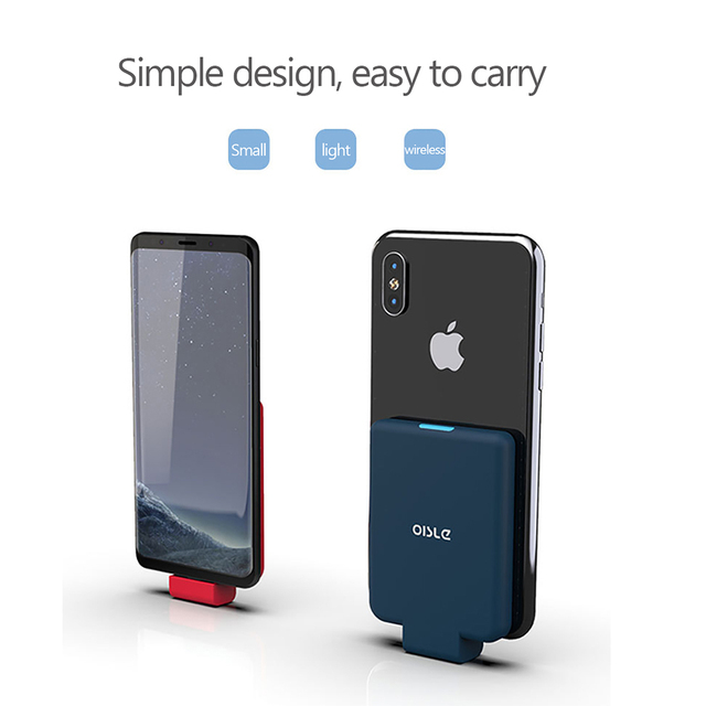 Mini Portable Backup External Battery Charger Cases Power Bank for iPhone X XS max 11 Pro/Samsung/Huawei/Xiaomi/Oneplus OISLE