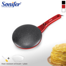 Electric Crepe Maker Mesin Pancake Pan Non Stick Wajan Baking Pan Kue Dapur Memasak Pan Kue Penggorengan 220V Sonifer(China)