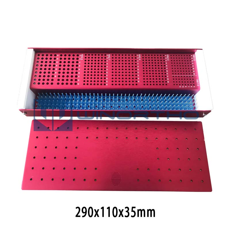 Orthopedic Screw Box Veterinary Pet Instrument Tray Pin Small Animal Orthopaedic Tray With Screw Rack