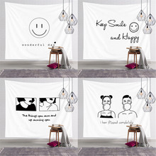 Cartoon Stick Figure Printed Wall Hanging Tapestry Carpets Tablecloth Bedspread Beach Towel Home Decorative цена 2017