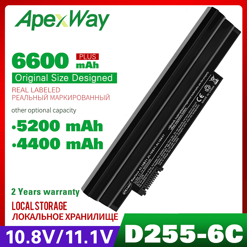 6cell 11.1V <font><b>Battery</b></font> For <font><b>Acer</b></font> <font><b>Aspire</b></font> <font><b>One</b></font> 522 <font><b>722</b></font> D255 D257 D260 D270 AC700 AL10B31 AL10A31 AL10G31 AO522 AOD255 AOD257 AOD260 image