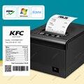 80 мм Wi-Fi Bluetooth Термальный чековый POS-принтер с автоматическим резаком для кухни порт USB/Ethernet Поддержка порта кассовый ящик ESC/POS