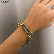 Женский блестящий браслет lactec в стиле Панк Стразы модный