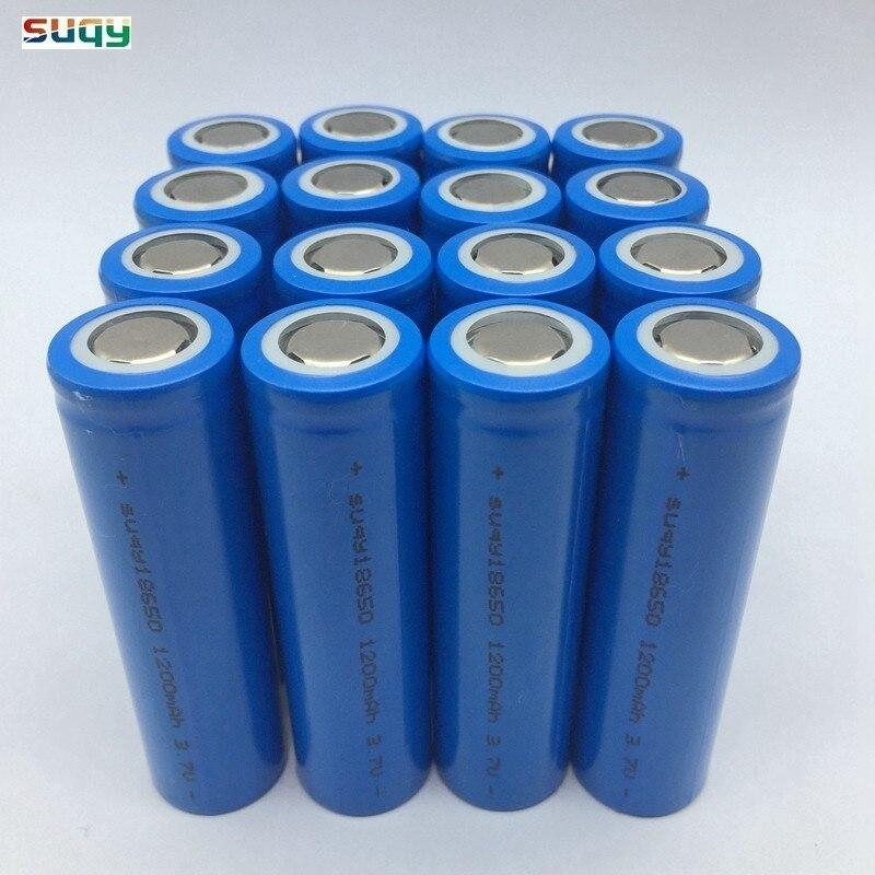 Suqy 12-40 pièces Li Ion 18650 Inr18650 1200mah Batterie 18650 Rechargeable Batterie Avec Chargeur 18650 batteries rechargeables
