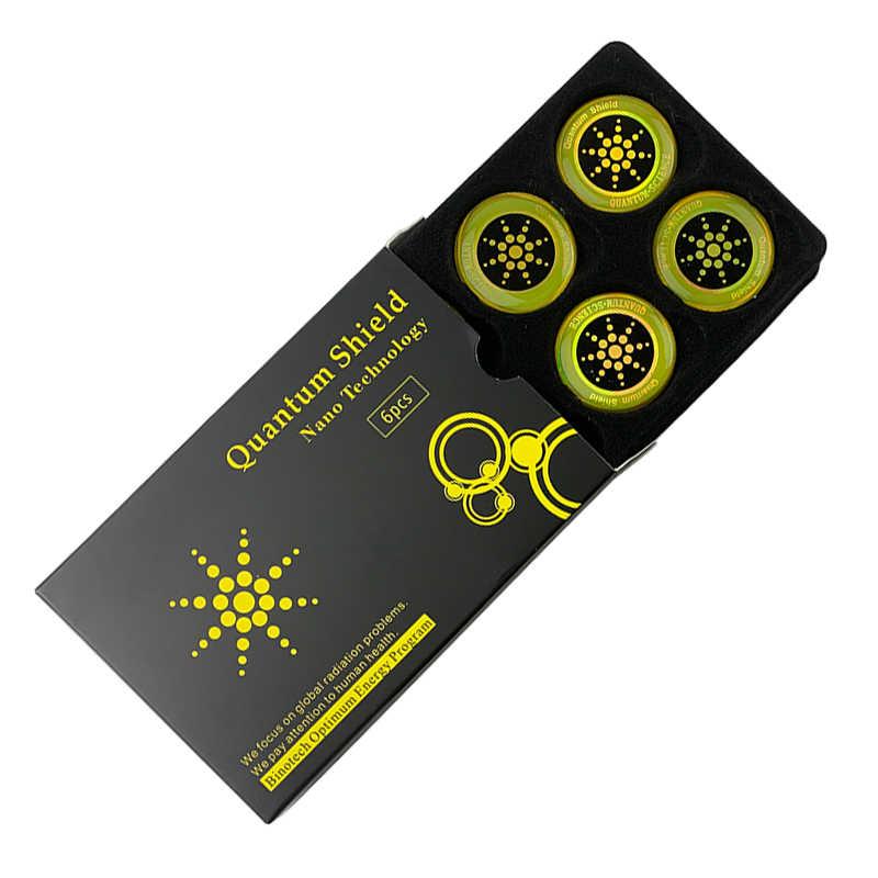 6PCS Anti รังสี QUANTUM SHIELD ป้องกัน EMF Neutralizer Blocker สติกเกอร์ Scalar Energy Set
