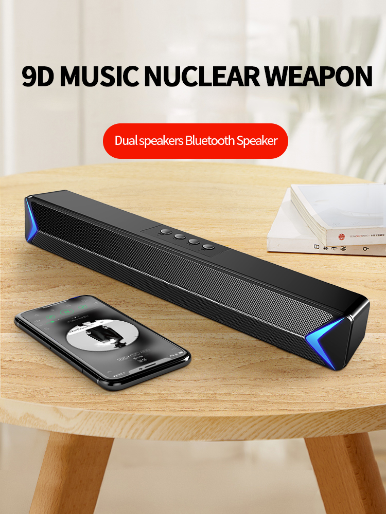Wireless <font><b>Bluetooth</b></font> 5.0 <font><b>Speaker</b></font> Boombox Soundbar tv subwoofer Portable <font><b>Bookshelf</b></font> <font><b>Speakers</b></font> Column Loudspeaker TF/Aux for Computer image