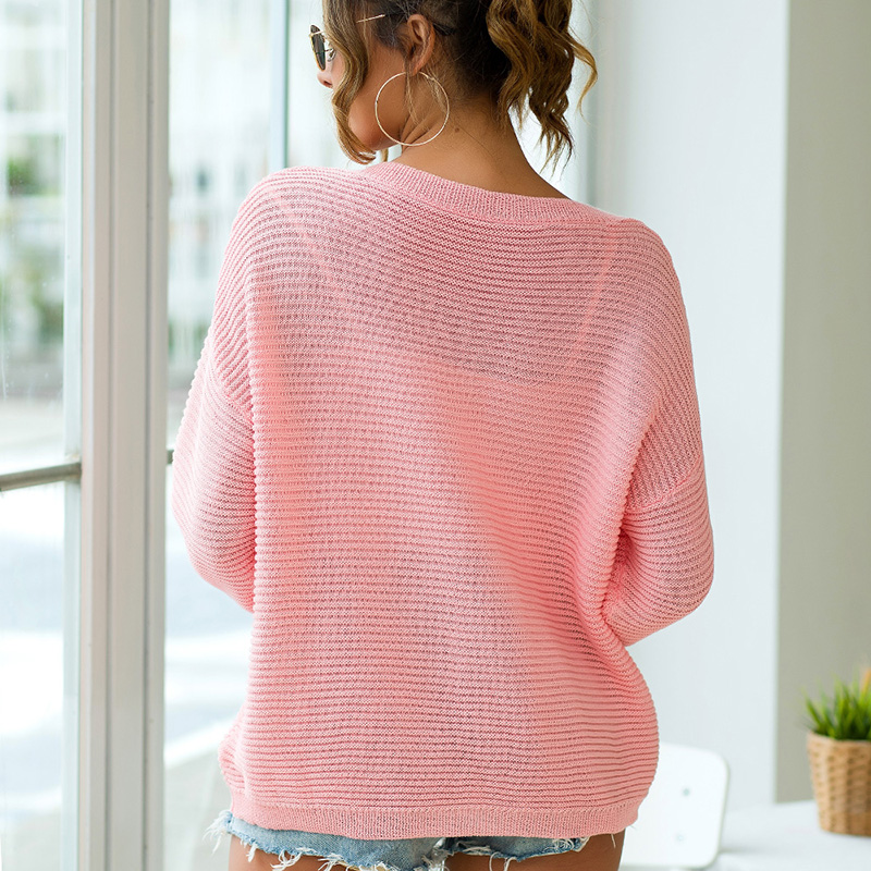 Fitshinling Autumn Winter 2019 Sweaters Pullovers Women Clothing V Neck Slim Solid Basic Jumper Knitwear Pull Femme Sweater New in Pullovers from Women 39 s Clothing