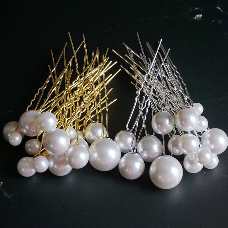 Women U Shape Clip Pearl Hair Stick Headwear Hairpin Clips For Bridal Wedding Jewelry Accessories Hairstyle Design Tools