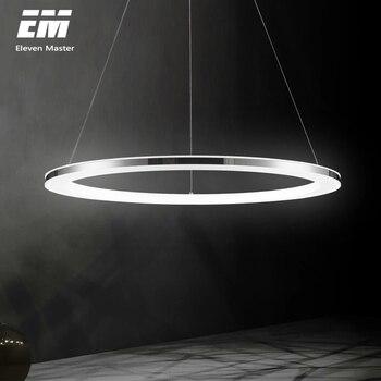Candelabros LED De Acero Inoxidable Para Sala De Estar, Comedor, Cocina, Marco Circular, Candelabros LED AC 220V ZZX0001