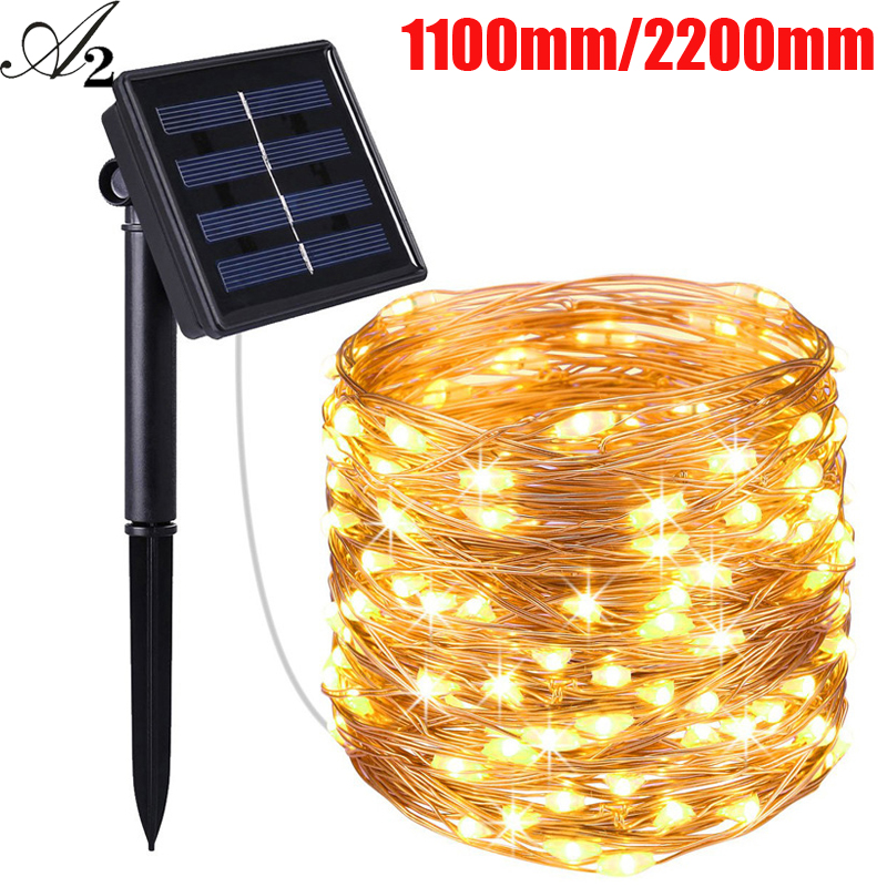 A2 Christmas Decoration Led Twinkle Light Solar Power Lights Multicolor Outdoor Party Garland Garden Waterproof Lights