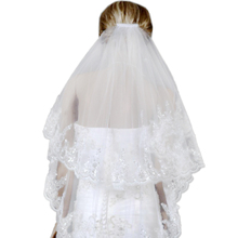 Female Two Layers White Wedding Veil Bridal Short Tulle Veils Accessories for Bride