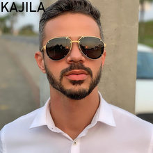 Овальные Солнцезащитные очки в стиле ретро для мужчин и женщин