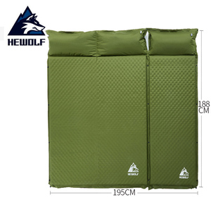 Hewolf спальный Самонадувающийся коврик надувной коврик воздушный матрас пена влагостойкий двойной матрас в палатке для кемпинга коврик