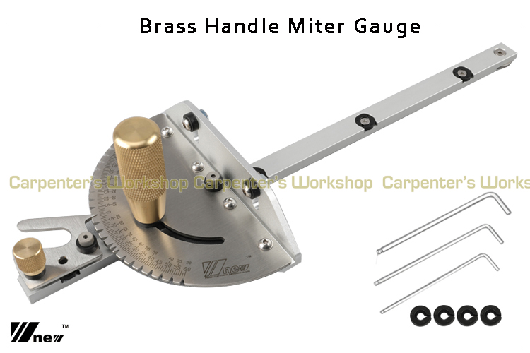 Tools : Miter Gauge Wood Dowels and Box Joint Jig Kit with Adjustable Flip Stop