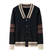 Повседневный Кардиган, трикотаж, мужской однотонный шаль, свитер, мужская повседневная вязанная однобортная куртка, Кардиган с длинным рукавом, куртка, рубашка, топы