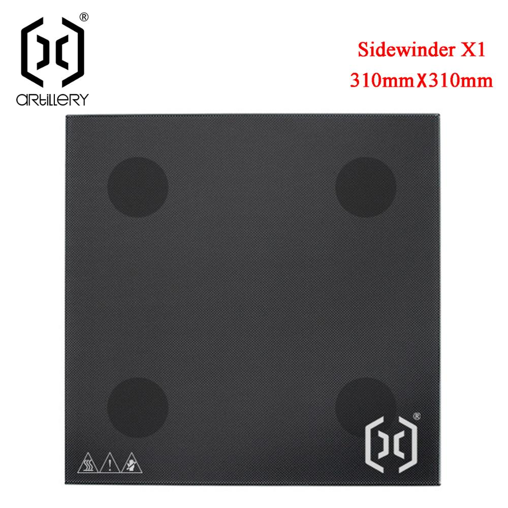 artillery Sidewinder SW-X1 and Genius 3D printer dedicated glass bed