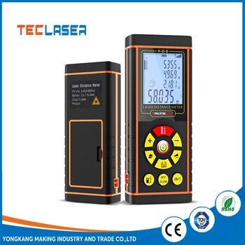 цена на TECLASER Laser Meter Laser Measuring Laser Distance Meter Backlit LCD Pythagorean Mode Measure Distance Area Volume Tape Measure