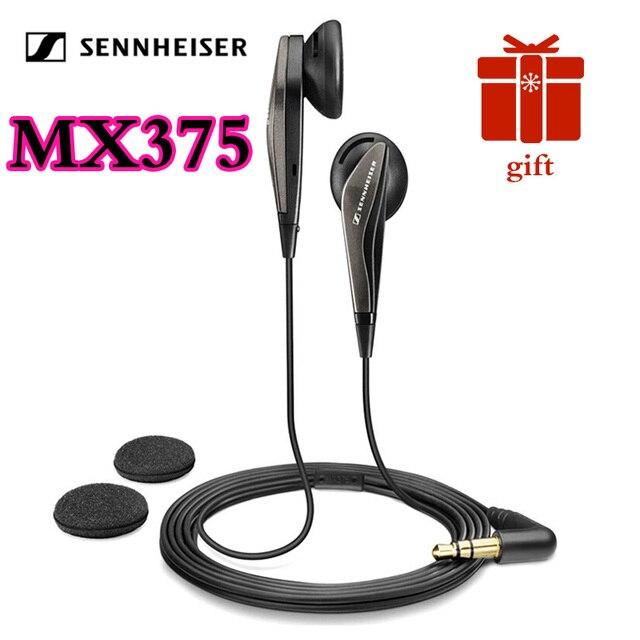 ゼンハイザーMX375オリジナルステレオイヤホン重低音イヤホン3.5ミリメートルヘッドセットスポーツヘッドフォンhd解像度音楽iphone androd