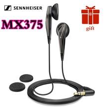 Sennheiser MX375 oryginalne słuchawki douszne głębokie basowe słuchawki 3.5mm słuchawki sportowe rozdzielczość HD muzyka dla iPhone Androd