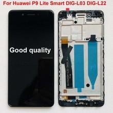 OK 화웨이 P9 라이트 스마트 DIG L03 DIG L22 DIG L23 LCD 디스플레이 + 터치 스크린 디지타이저 어셈블리 + 프레임 (P9 라이트)