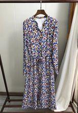 Sukienka dla kobiet arabska sukienka z długimi rękawami nadruk w stylu Vintage z długimi rękawami