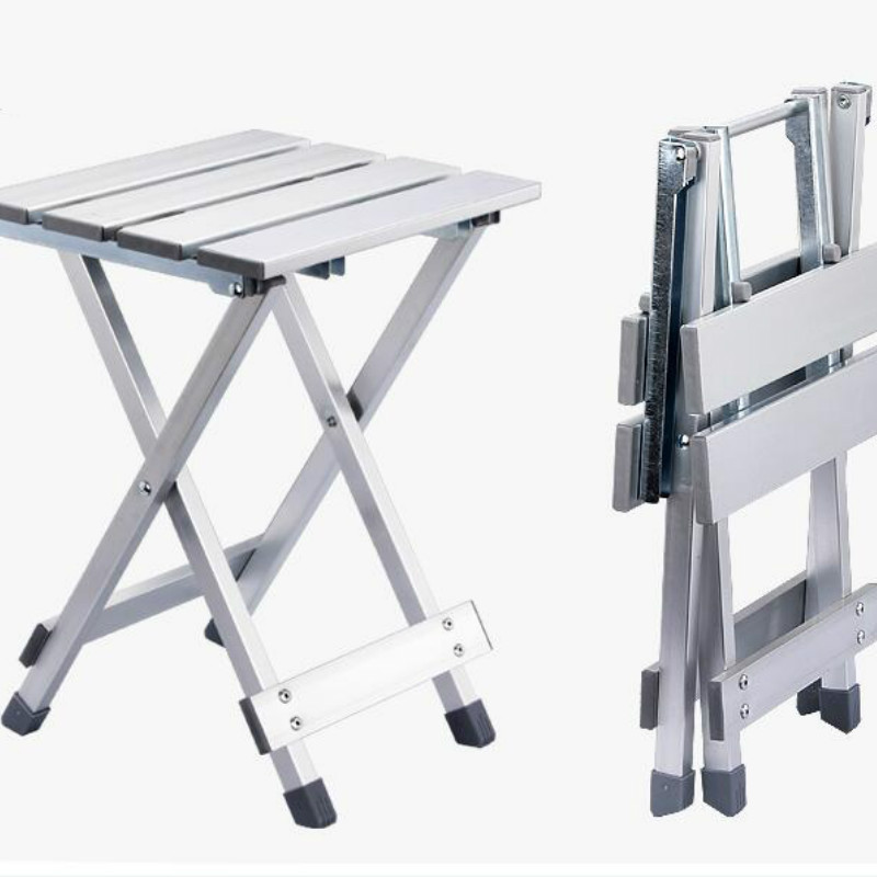 Convenient Folding Stool Camping High Intensity Scratch Resistant Aluminum Alloy Space Saving Portable Chair Outdoor Non Slip WY