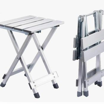 Conveniente taburete plegable de Camping de alta intensidad resistente a los arañazos de aleación de aluminio de ahorro de espacio silla portátil al aire libre antideslizante WY