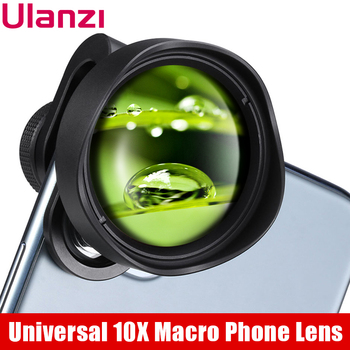 ULANZI 10X Macro Phone Camera Lens Universal Lens for iPhone 11 Pro Max/XS Max/XR/XS Max All Android smartphone Phone Lens