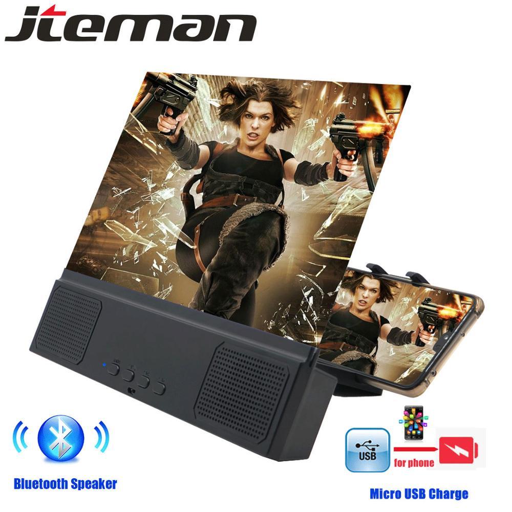 12 дюймов HD портативный универсальный экран усилитель с Bluetooth динамик для складной Стенд 3d экран versterker lupa para celular