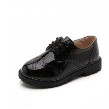 Весна Лето Осень детская обувь для мальчиков девочек Британский Стиль Детские повседневные кроссовки из искусственной кожи модная обувь