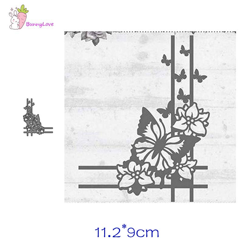Butterfly Corner Lace Metal Cutting Dies Stencils Scrapbooking Album Paper Decorative Craft Embossing New 2019