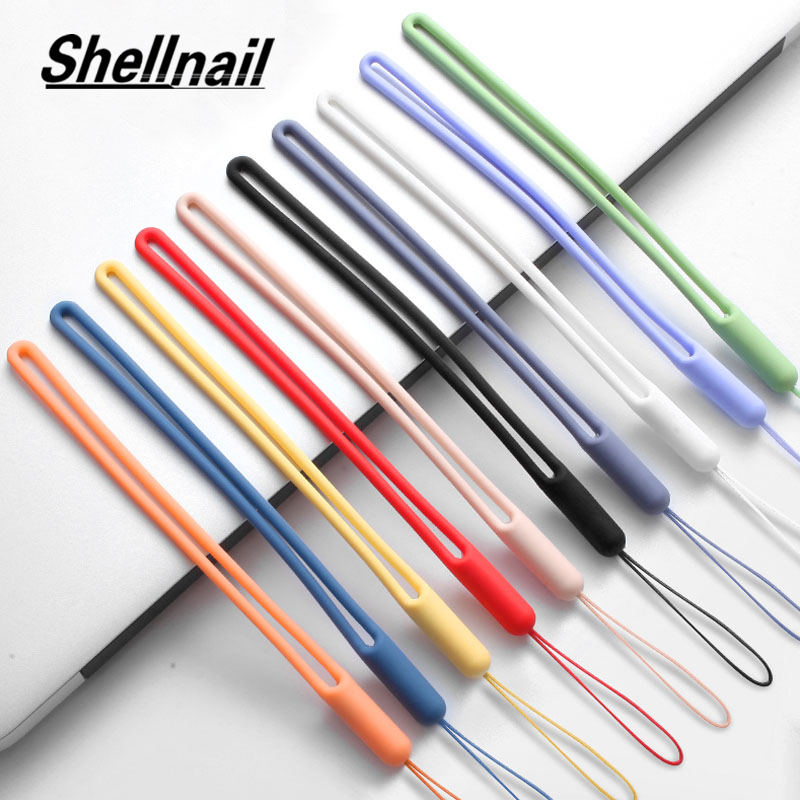 Shellnail Silicone Cell Phone Lanyard For IPhone Xiaomi Phone Wrist Straps Keychain Camera Strap ID Card Gym USB Hanging Rope