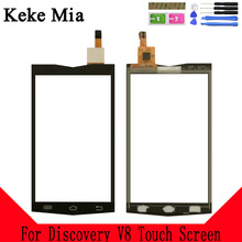 Keke Mia 4.0 Mobile TouchScreen For Discovery V8 Touch Screen Digitizer Panle Lens Glass Black Color With Tape