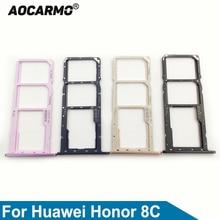Aocarmo Nano Sim Card Tray MicroSD Slot Holder For Huawei Honor 8C BKK-AL10 BKK-AL00 Replacement Part