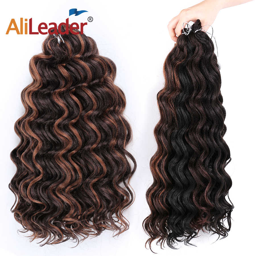 """Leeons Freetress Water Wave Vlechten Haar Gehaakte Braid Extensions 20Inch/80G Ocean Wave Haak Hair Canecalon synthetisch Haar"