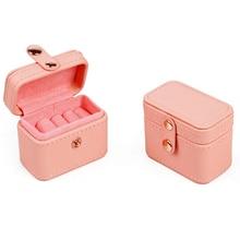 Портативный ящик для хранения ювелирных изделий, дорожный многофункциональный кожаный бокс для сережек и колец, простой кожаный ящик для х...
