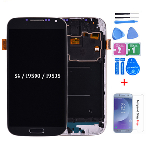 For Samsung Galaxy S4 i9505 i9500 i337 LCD Display and Touch Screen Digitizer Assembly With Frame Can be adjust the brightness