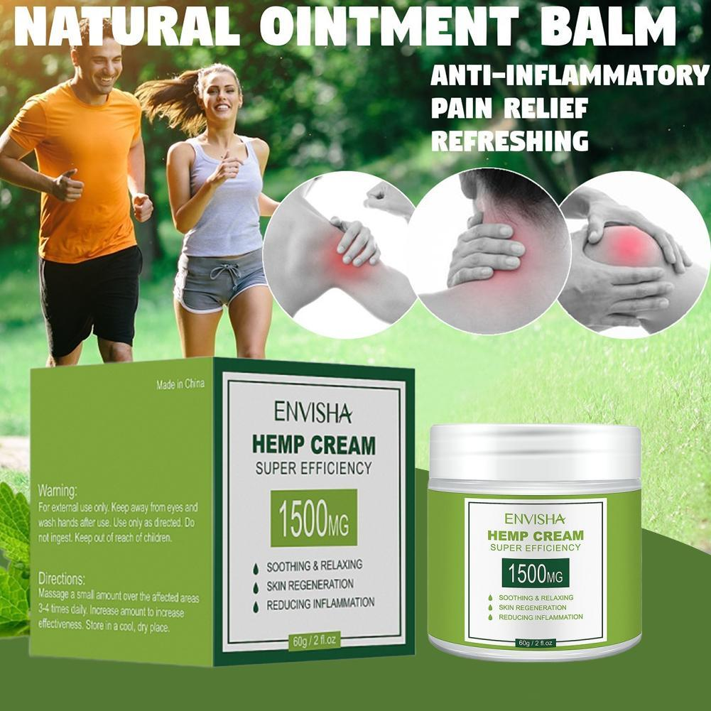 150g Hemp Cream Anti-Inflammation Relieve Pain Non-GMO Hemp Extract Ointment For Back/Muscle Pain Health Soothing Skin Care