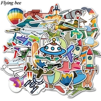 sticker motorcycle Flyingbee 40 pcs Flying gear Sticker hot air balloon Stickers for DIY Luggage Laptop Skateboard Car Motorcycle Stickers X0737 (2)