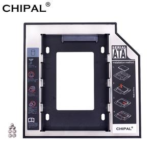 CHIPAL 2nd HDD Caddy 12.7mm SATA 3.0 Hard Disk Drive Box Enclosure DVD Adapter Aluminum Optibay 2.5'' SSD 2TB For Laptop CD-ROM
