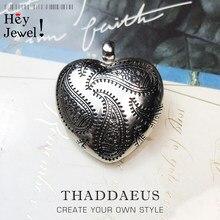 Grand pendentif en forme de cœur, médaillon en argent Sterling 2021, nouveauté printemps 925, bijoux fins, accessoires, cadeau romantique pour femme, Europe