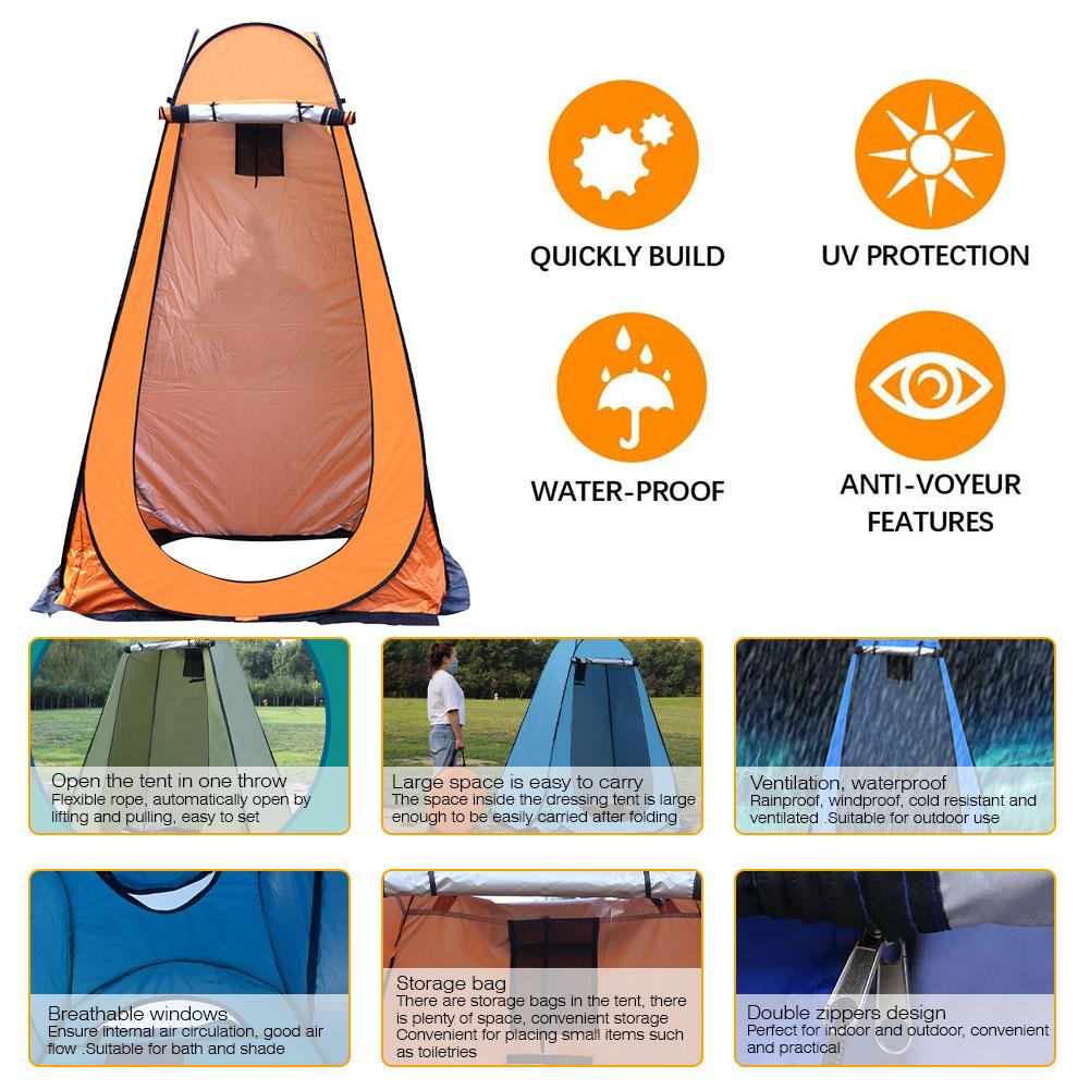 Pop Up Pod Changing Room Privacy Tent Easy Set Up Portable Outdoor Shower Tent Camp Toilet