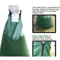 20 Gallon Tree Watering Bag PVC Drip Irrigation With Zipper Adjustable Slow Release Plants Dark Green Large Garden Tool Hanging