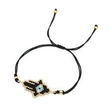 Go2boho Fatima Hamsa Hand Bracelet Turkish Evil Eye Bracelets MIYUKI Pulsera Mujer Moda 2019 Jewelry Women Satinless Steel Chian