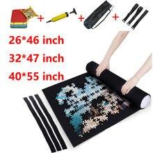 Esteira de feltro para quebra-cabeças, portátil, de armazenamento de quebra-cabeça, rolo, acessórios, brinquedo, tapete de feltro para cima 3000 peças