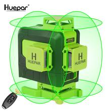 Huepar 16 lines 4D Cross Line Laser Level Green Beam Line With Li-ion battery For Tiles