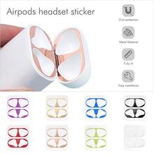 Пылезащитная наклейка для Air Pods 1, 2, чехол, стикер, защита от пыли, Защитная пленка для наушников для Apple AirPods 2, 1, наклейка на крышку s